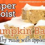 Moist & Healthy Pumpkin Bars – Made with Applesauce