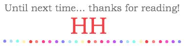 HH Signature Thanks