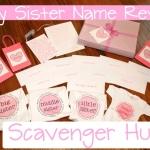 Baby Name Reveal Scavenger Hunt
