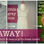 little grey line Giveaway!!  Winner Has a Men's Shirt Remade Into a Girl's Dress!  EXPIRED!