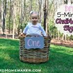 DIY 5-Minute Chalkboard Sign