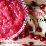Tart & Sweet Cranberry Applesauce