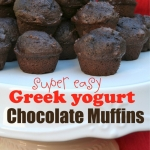 Simple Greek Yogurt Chocolate Muffins