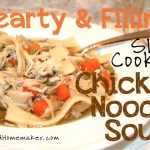 Hearty Slow Cooker Chicken Noodle Soup