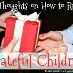 10 Thoughts on How to Raise Grateful Children