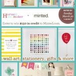 Giveaway – Win $150 to Spend at Minted! EXPIRED!!!