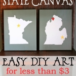Love Your State Canvas – Easy, Inexpensive, DIY Art!