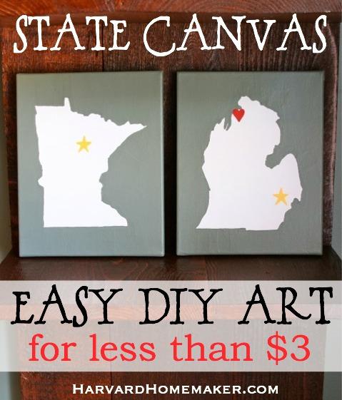 State Canvas_Easy DIY Art_Minnesota_Michigan
