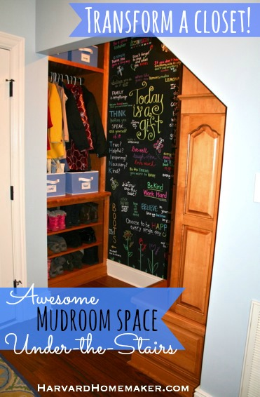 Under Stairs Mudroom_Transform a Closet